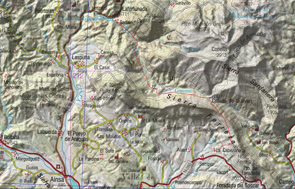 mapa excursi+¦n 1 trayecto marcado 1